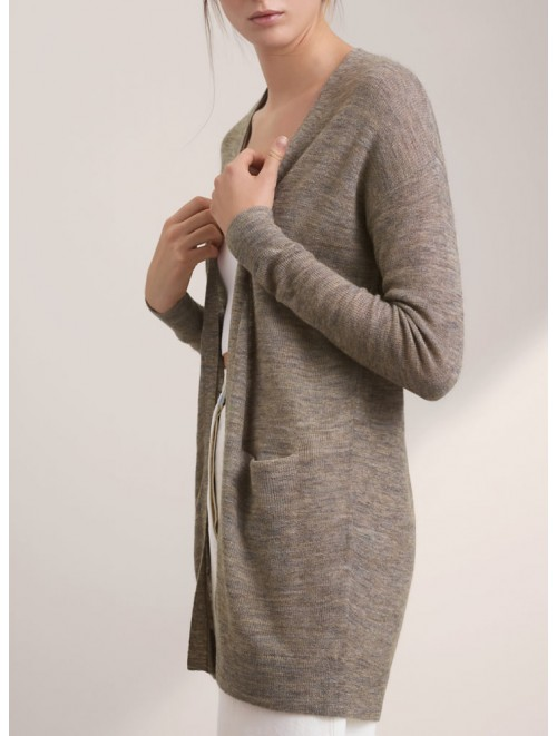 Casual Long Crochet Knitted Sweater Cardigan