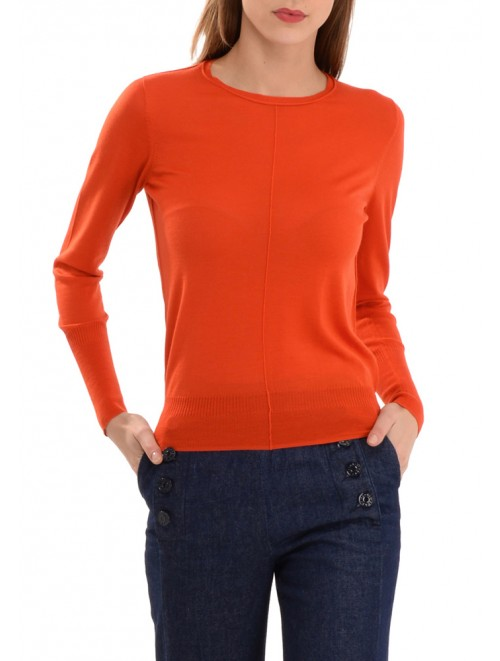 Fashion Crew Neck Wool Cashmere Sweater