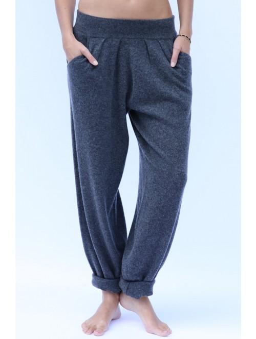 Men Luxurious Flat Knit Cashmere Pants