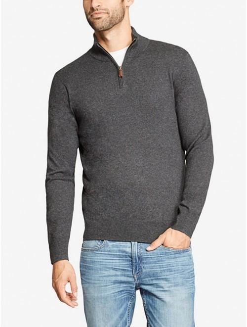 Men's Best Quality Cashmere Quarter Zip Sweater