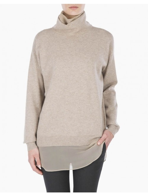 Women High Neck Knitted Cashmere Sweater