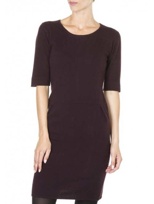 Women Knitted Long Cashmere Dress With Zipper