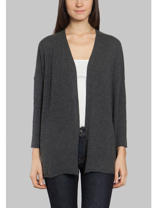 Women Open Front Cardigan Darkgray Sweaters