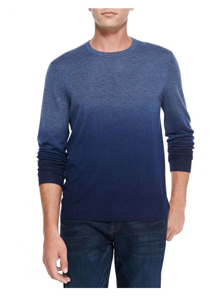 100% Cashmere Men Long Sleeve Plain Pullover