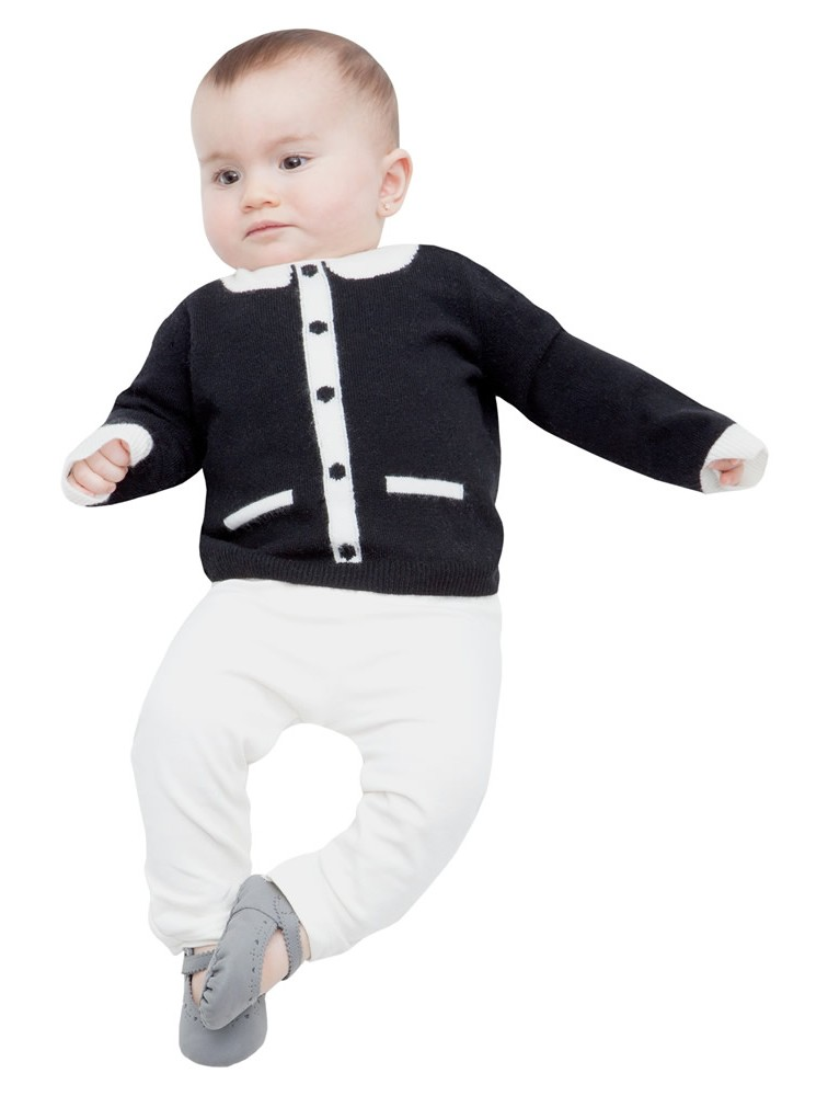 Baby Winter Cashmere Crewneck Sweaters
