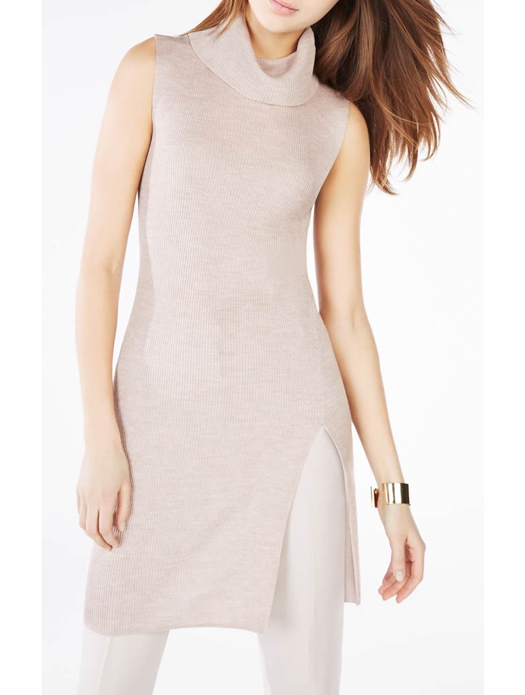 Cashmir Wool Turtleneck Sweater Dress