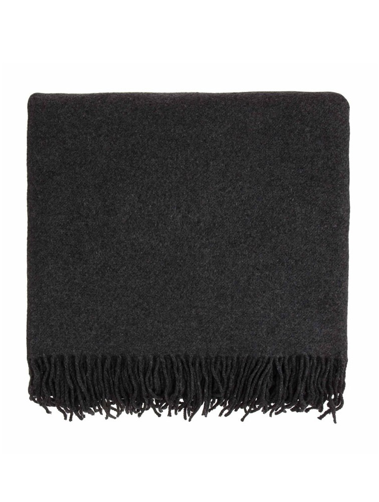 Warm Plain Kids Wool Blended Travel Blanket