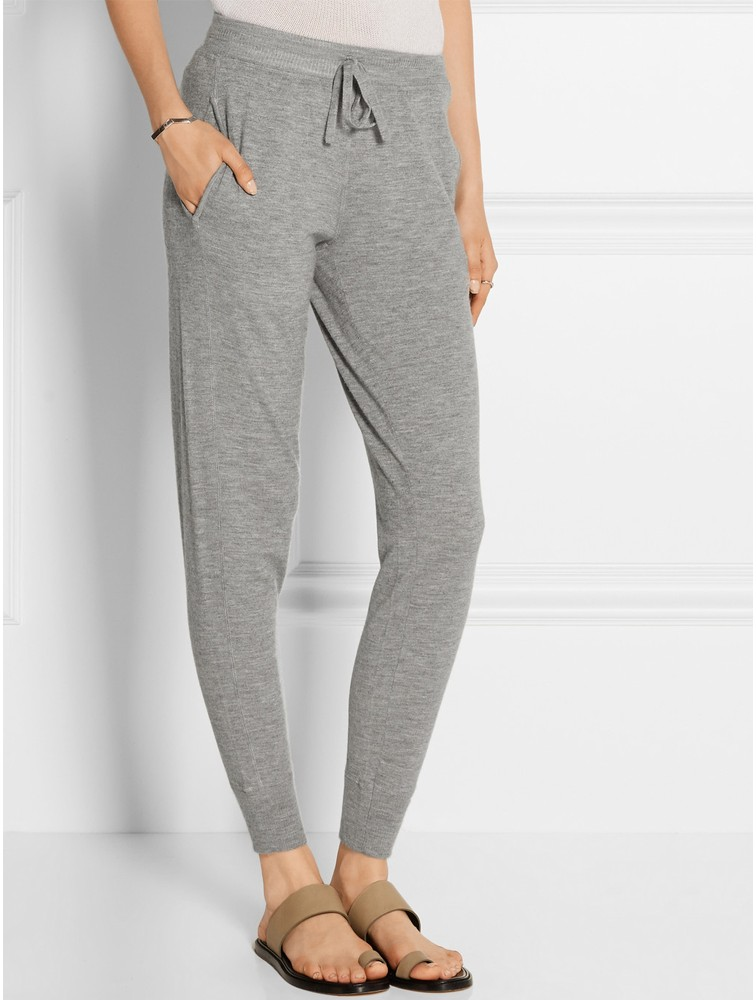 Custom Women Cashmere wool Jogging Trousers