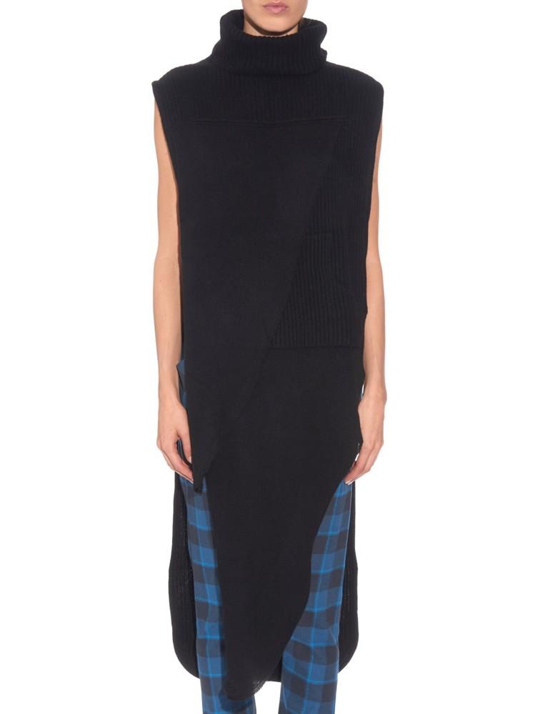 Fancy Fitted Fuzzy Black Sweater Dress