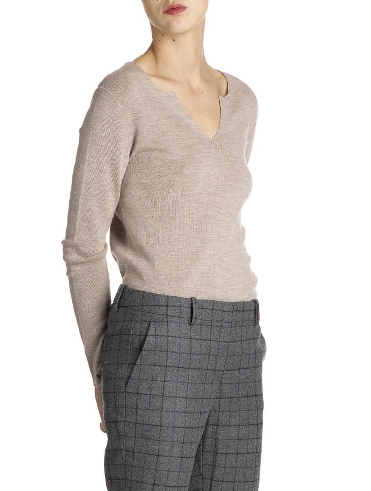 Lady V Neck Cashmere 12GG Knitwear