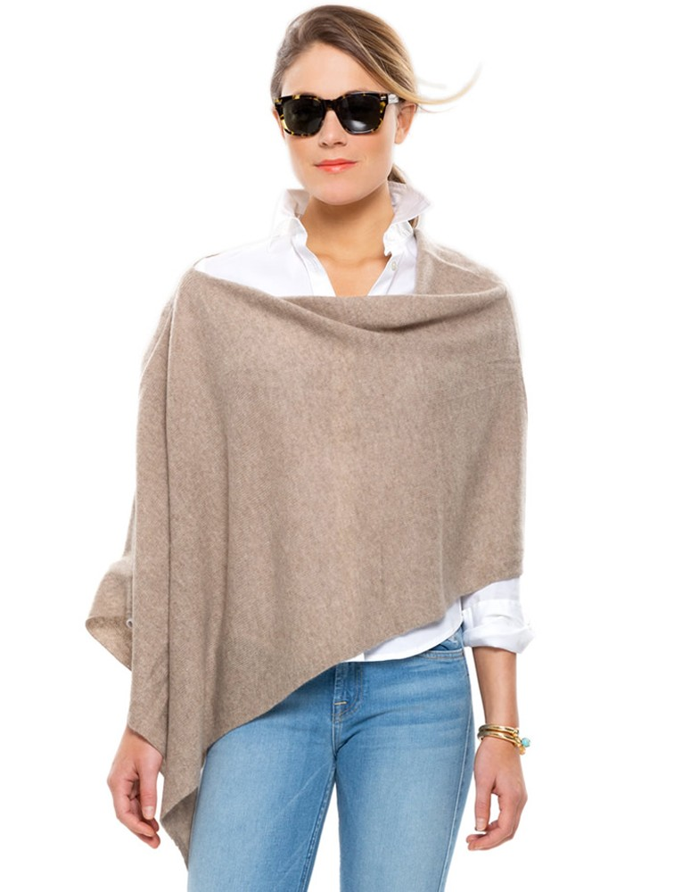 Loose Knit Women Fashion Cashmere Poncho Wrap