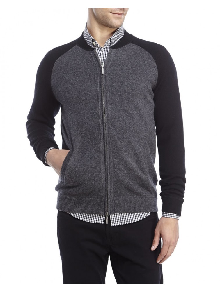 Men Fashion Cashmere Cardigan with zipper