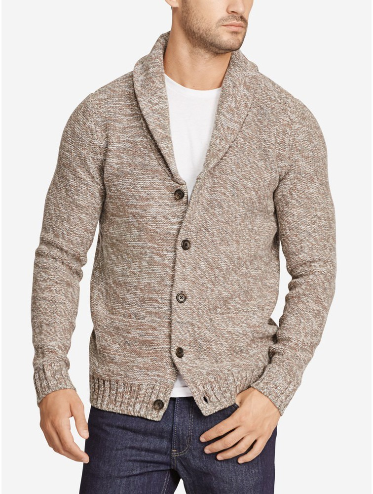 Men Fashion Design Button Up Thick Cardigan