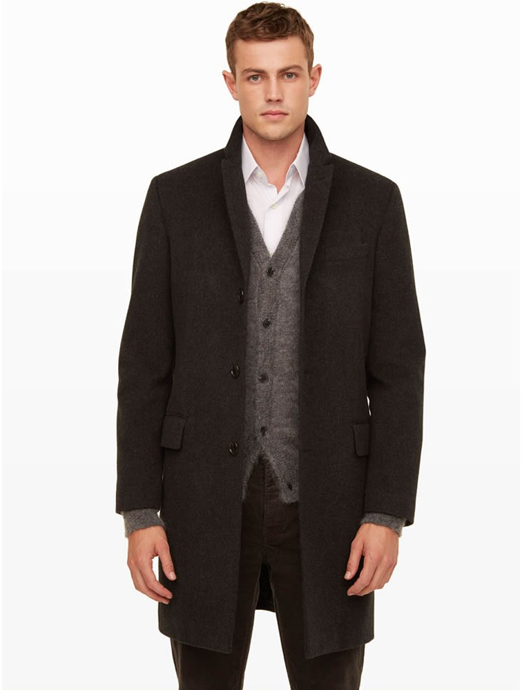 Men Winter Warm Cashmere Wool Coat