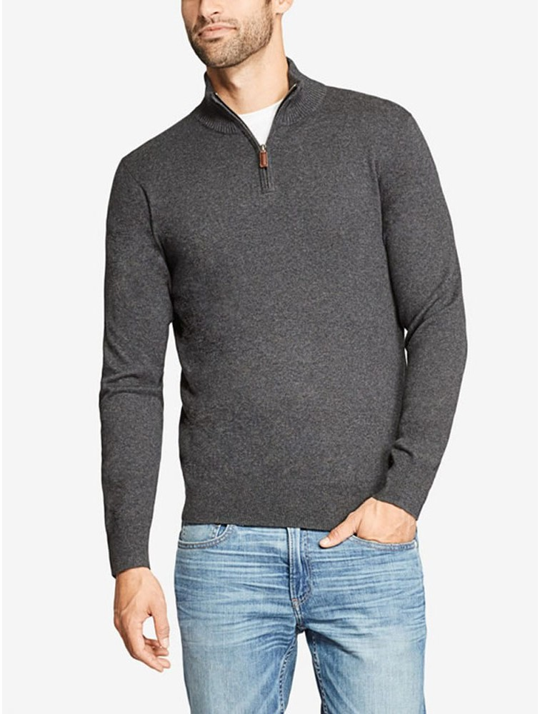 Men's Best Quality Cashmere Quarter Zip Sweater