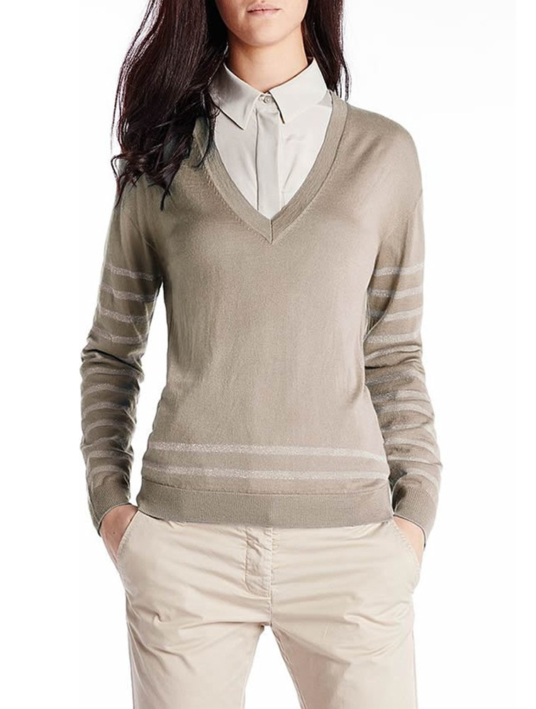 New Arrival Classic V Neck Women Cashmere Sweater