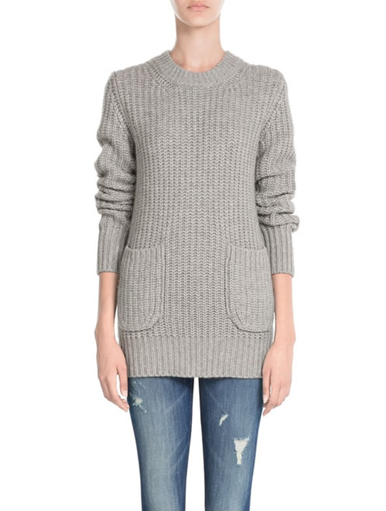 Rib Knit Cashmere Sweater For Winter