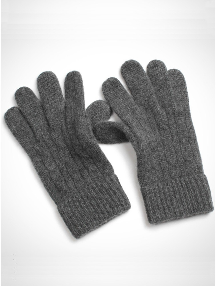 Super Soft Kashmir Cable Knit Gloves