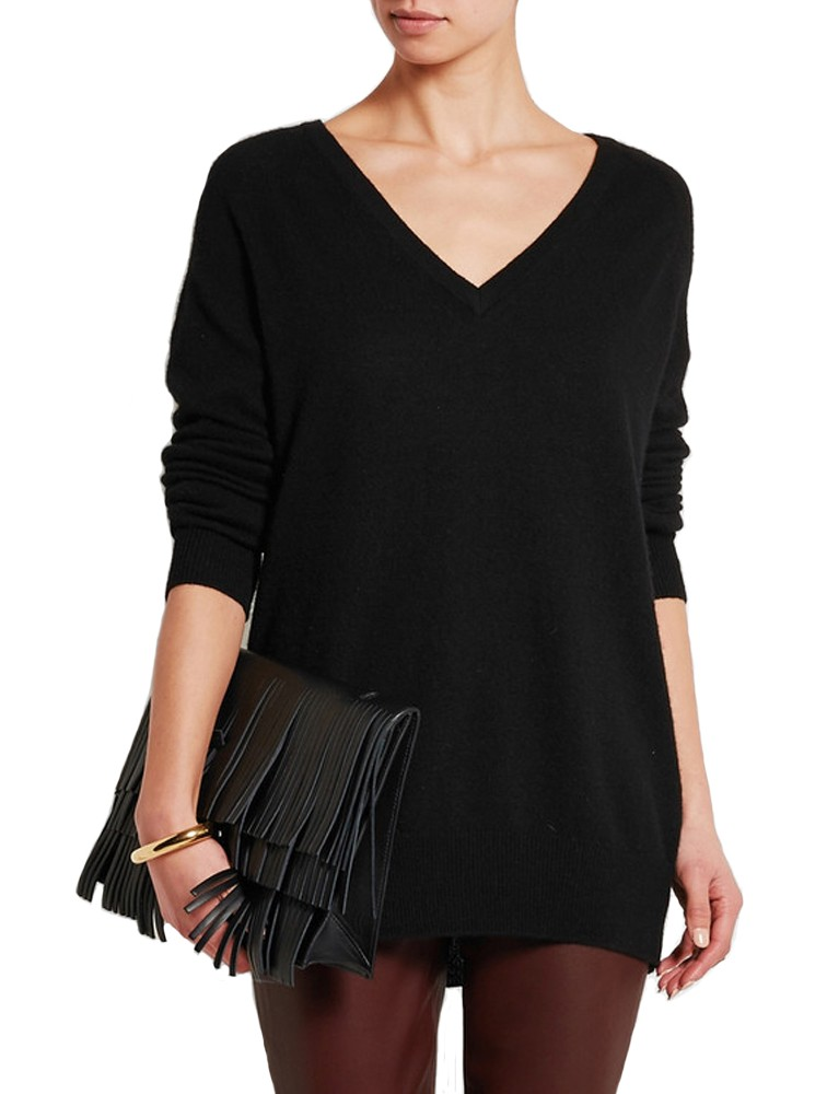 Women Best Budget Black Cashmere Knit Sweater