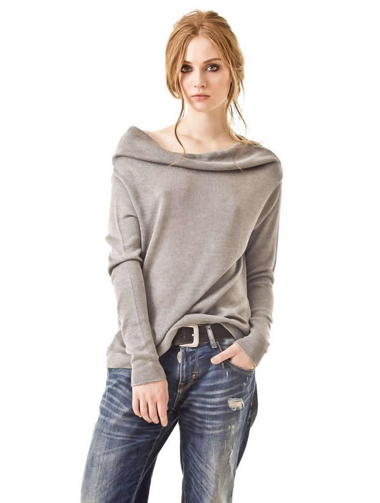 100% Wool Long Fashion Knit Sweater