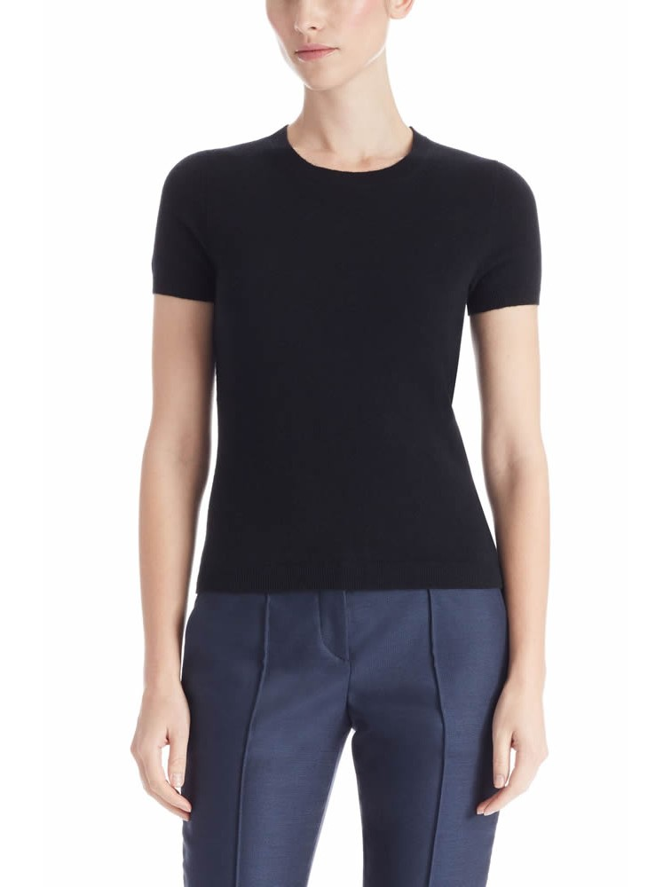 Cashmere Tight Short Sleeve Sweater