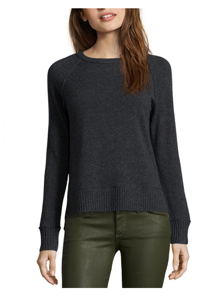 Crewneck 100% Cashmere Knit Sweater