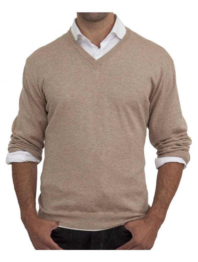 High Quality Business Men V Neck Cashmere Sweater