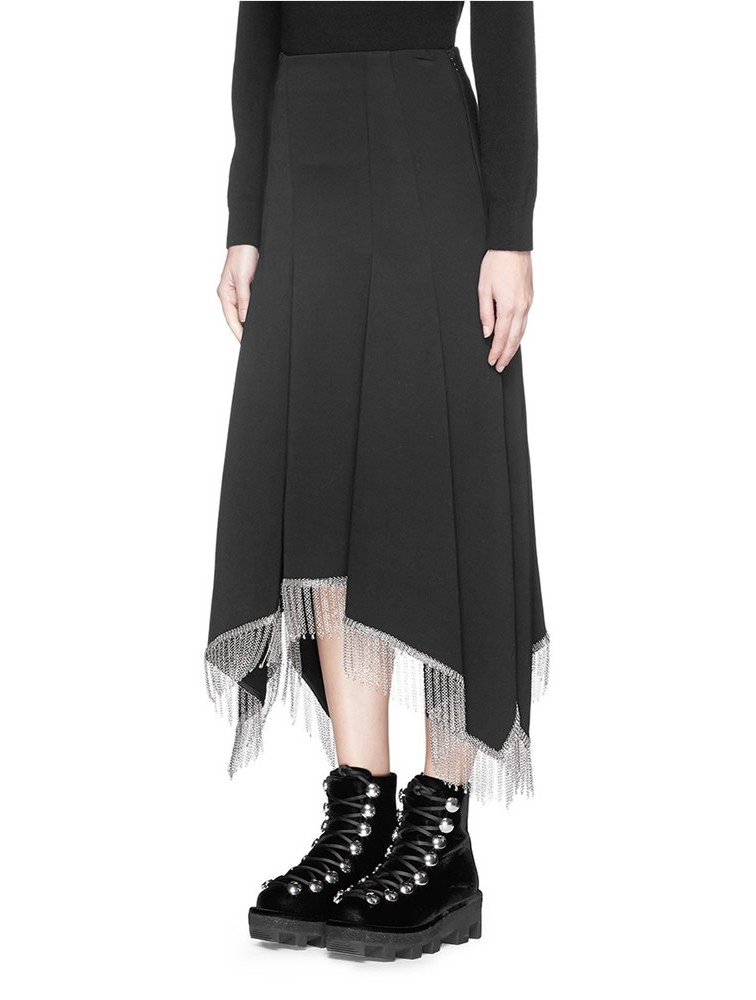 High waist wool long skirt