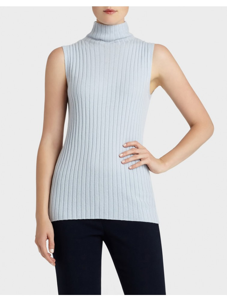 Lady Fashion Turtleneck Sleeveless Sweater Vest